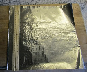 My 1' x 1' piece of foil