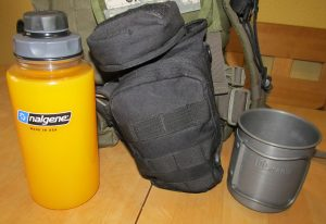The Bottle and accessories I tote on my daypack