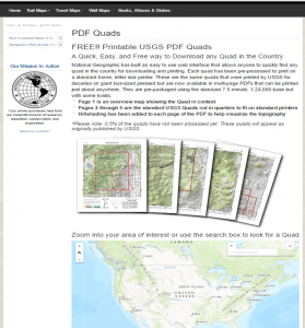 National Geographic Maps Page