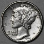1941 Mercury Dime - 90% Silver