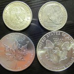 5M coins and canadian and American silver dollars.