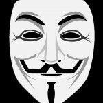 Guy Fawkes Mask used by Anonymous supporters
